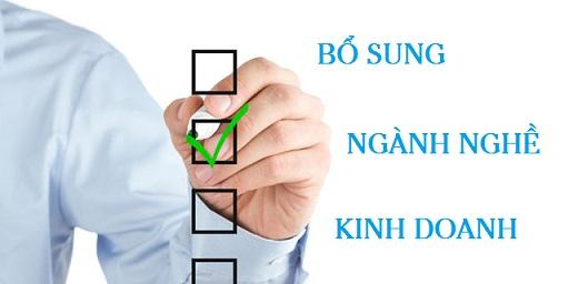 Thủ tục bổ sung ngành nghề kinh doanh – Thay đổi giấy phép kinh doanh